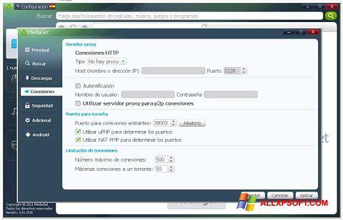Στιγμιότυπο οθόνης MediaGet Windows XP