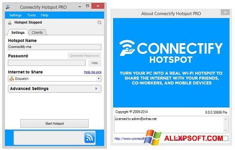 Στιγμιότυπο οθόνης Connectify Hotspot Windows XP