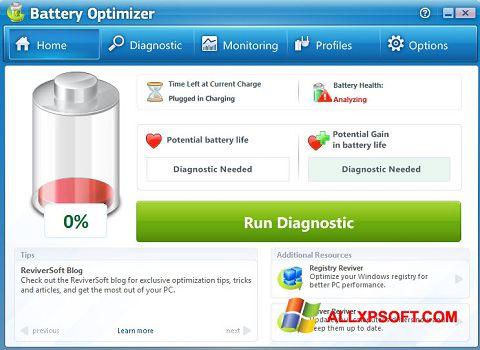 Στιγμιότυπο οθόνης Battery Optimizer Windows XP