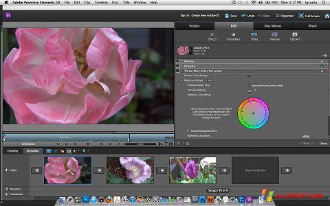 Στιγμιότυπο οθόνης Adobe Premiere Elements Windows XP