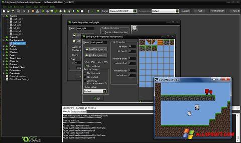 Στιγμιότυπο οθόνης GameMaker: Studio Windows XP