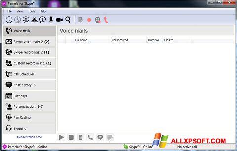 Στιγμιότυπο οθόνης Pamela for Skype Windows XP