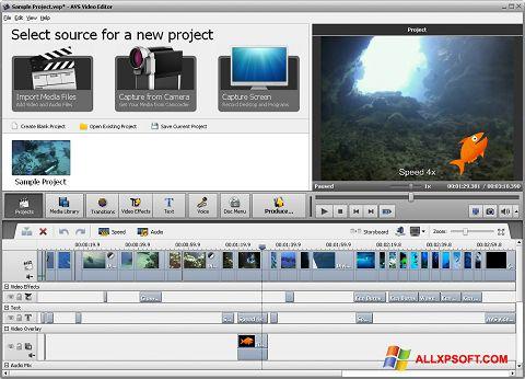 Στιγμιότυπο οθόνης AVS Video Editor Windows XP
