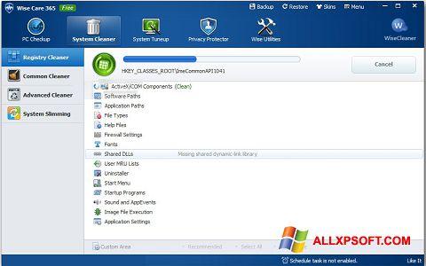 Στιγμιότυπο οθόνης Wise Care 365 Windows XP