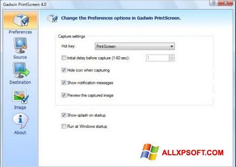 Στιγμιότυπο οθόνης Gadwin PrintScreen Windows XP