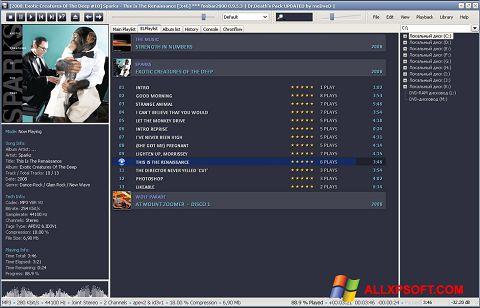 Στιγμιότυπο οθόνης Foobar2000 Windows XP