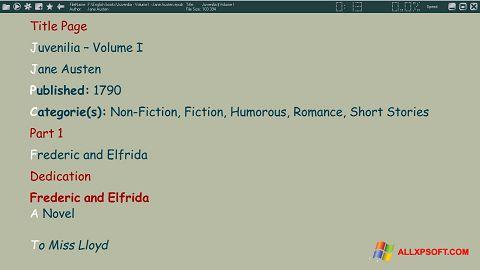 Στιγμιότυπο οθόνης ICE Book Reader Windows XP