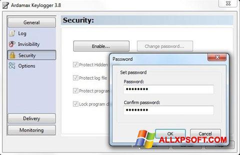 Στιγμιότυπο οθόνης Ardamax Keylogger Windows XP