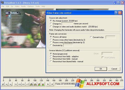 Στιγμιότυπο οθόνης VirtualDubMod Windows XP