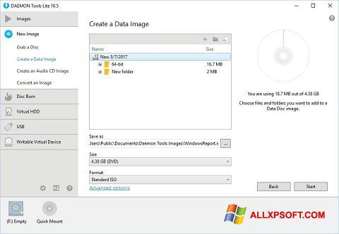 Στιγμιότυπο οθόνης DAEMON Tools Lite Windows XP