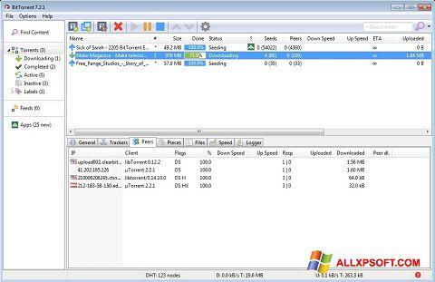 Στιγμιότυπο οθόνης BitTorrent Windows XP
