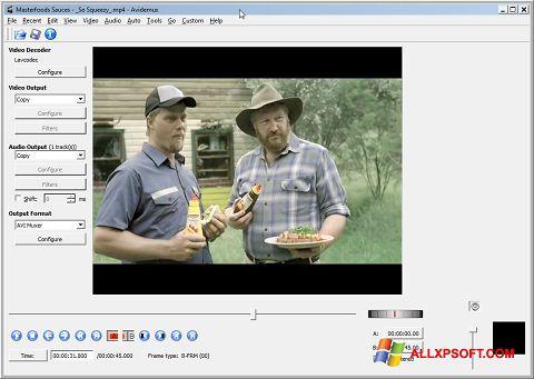 Στιγμιότυπο οθόνης Avidemux Windows XP