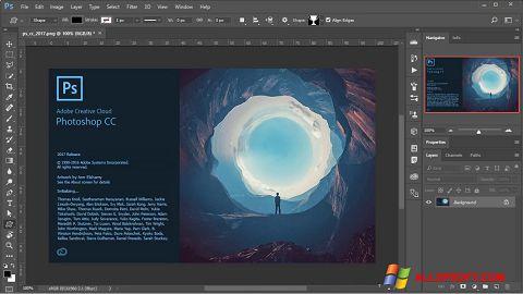 Στιγμιότυπο οθόνης Adobe Photoshop Windows XP