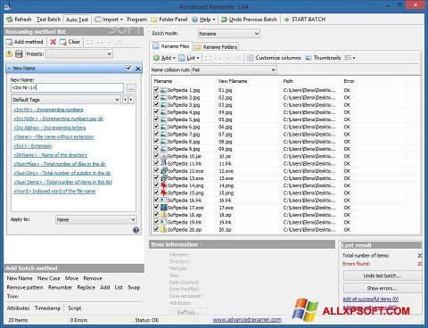 Στιγμιότυπο οθόνης ReNamer Windows XP