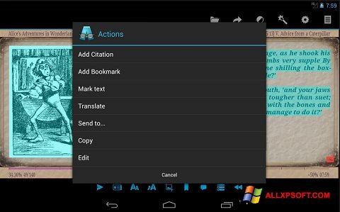 Στιγμιότυπο οθόνης AlReader Windows XP