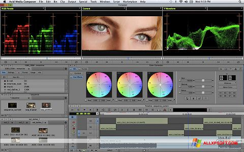 Στιγμιότυπο οθόνης Avid Media Composer Windows XP