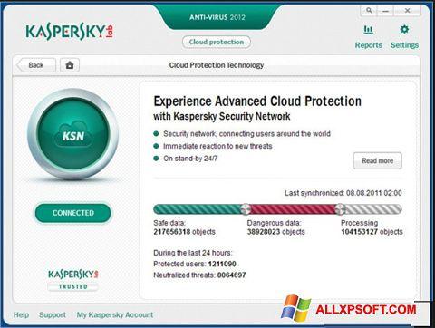 Στιγμιότυπο οθόνης Kaspersky Windows XP