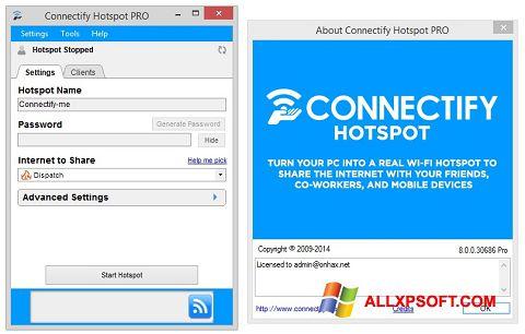 Στιγμιότυπο οθόνης Connectify Hotspot PRO Windows XP