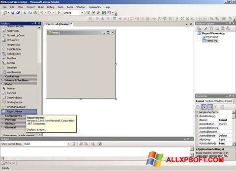 Στιγμιότυπο οθόνης Microsoft Visual Studio Windows XP