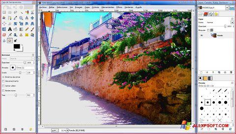 Στιγμιότυπο οθόνης GIMP Windows XP