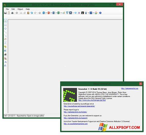 Στιγμιότυπο οθόνης Greenshot Windows XP