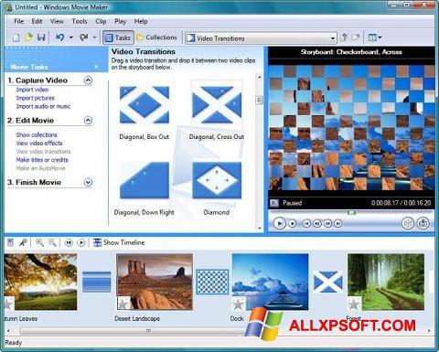 Στιγμιότυπο οθόνης Windows Movie Maker Windows XP