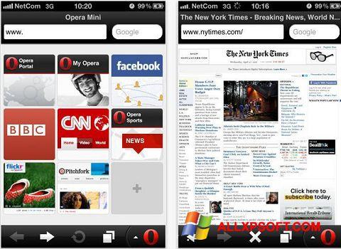 Στιγμιότυπο οθόνης Opera Mini Windows XP