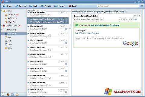 Στιγμιότυπο οθόνης FoxMail Windows XP