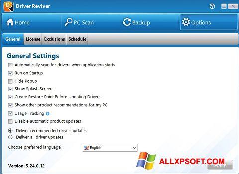 Στιγμιότυπο οθόνης Driver Reviver Windows XP