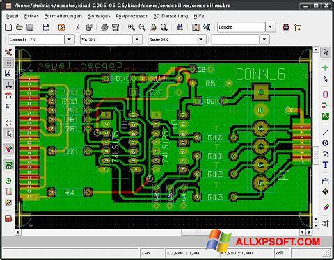 Στιγμιότυπο οθόνης KiCad Windows XP