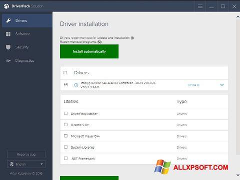 Στιγμιότυπο οθόνης DriverPack Solution Windows XP