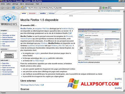 Στιγμιότυπο οθόνης Mozilla Firefox Windows XP