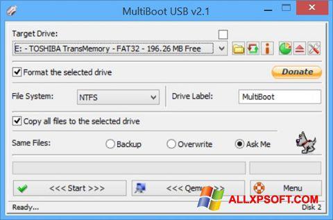 Στιγμιότυπο οθόνης Multi Boot USB Windows XP