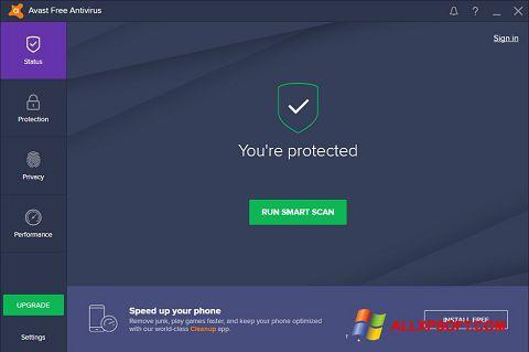 Στιγμιότυπο οθόνης Avast Free Antivirus Windows XP