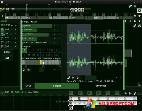 Στιγμιότυπο οθόνης SunVox Windows XP