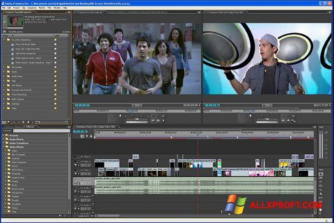 Στιγμιότυπο οθόνης Adobe Premiere Pro Windows XP