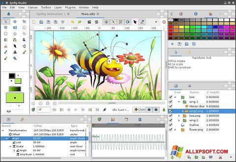 Στιγμιότυπο οθόνης Synfig Studio Windows XP