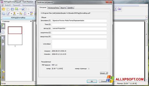 Στιγμιότυπο οθόνης Foxit Phantom Windows XP