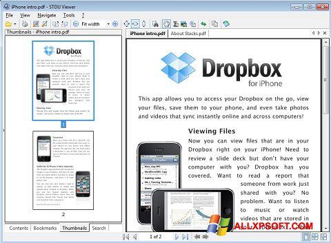 Στιγμιότυπο οθόνης STDU Viewer Windows XP