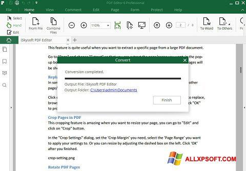 Στιγμιότυπο οθόνης PDF Editor Windows XP