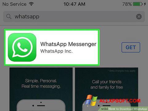 Στιγμιότυπο οθόνης WhatsApp Windows XP