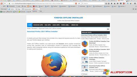 Στιγμιότυπο οθόνης Mozilla Firefox Offline Installer Windows XP