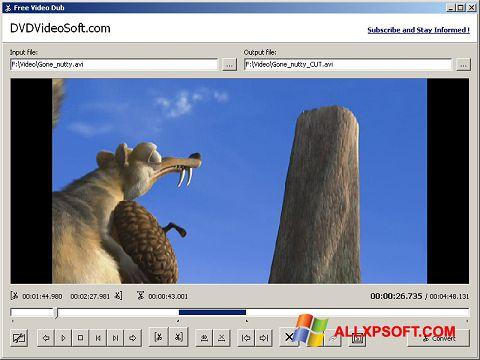 Στιγμιότυπο οθόνης Free Video Dub Windows XP