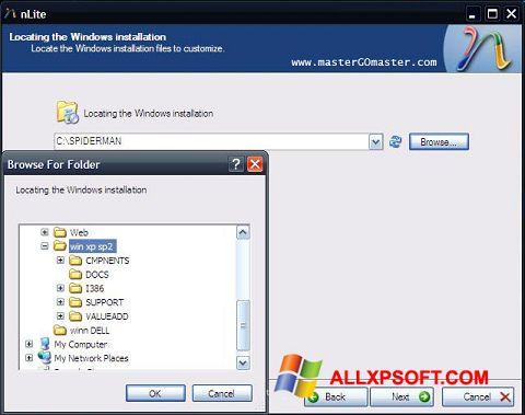 Στιγμιότυπο οθόνης nLite Windows XP