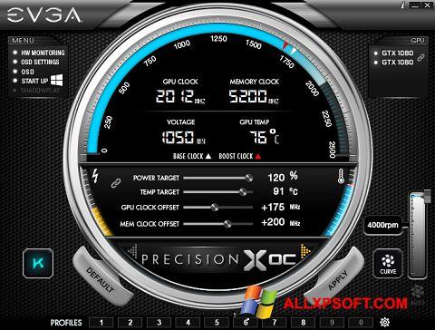 Στιγμιότυπο οθόνης EVGA Precision Windows XP