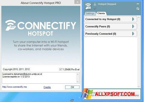 Στιγμιότυπο οθόνης Connectify Pro Windows XP