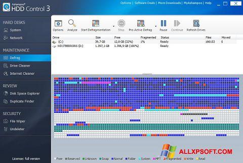 Στιγμιότυπο οθόνης Ashampoo HDD Control Windows XP