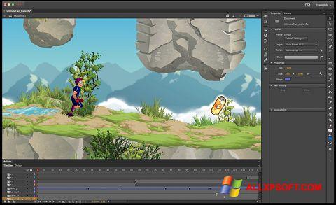 Στιγμιότυπο οθόνης Adobe Flash Professional Windows XP