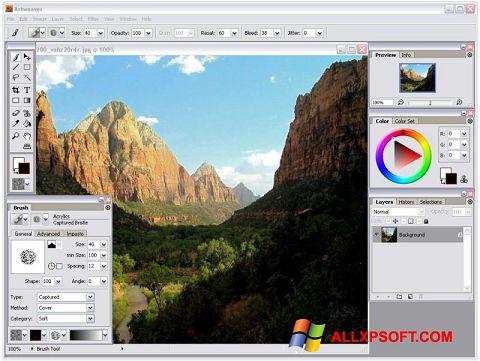 Στιγμιότυπο οθόνης Artweaver Windows XP