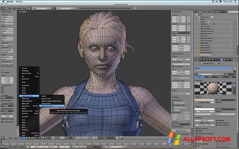 Στιγμιότυπο οθόνης Blender Windows XP